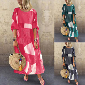 ZANZEA-Women-Short-Sleeve-Batwing-Long-Shirt-Dress-Oversize-Maxi-Dress-Plus-Size