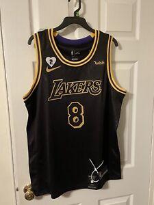 Authentic Los Angeles Lakers Kobe Bryant Black Mamba City Edition ...