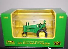 """ERTL John Deere Model A with Man """"Top 100 Toys of the Century"""" DieCast"""