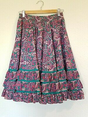 1960\u2019s Green Rodeo Skirt by Partner Please Malco Modes