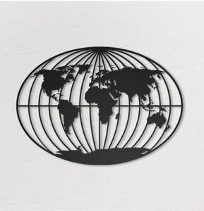 World-Map-Metal-laserCut-Wall-Art-Decor-Home-Living-Office-46-L-x-36-H-Cm
