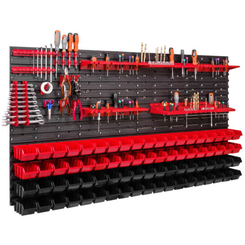 76 Stapelboxen  Werkzeughalter Wandregal Werkstattregal Werkzeugwand 156 x 78 cm
