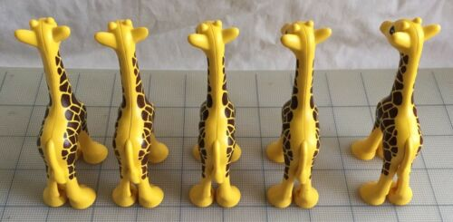 Lot Of 5 Lego Duplo Giraffe Animal Jungle Zoo Pieces Figure Toy Yellow Brown