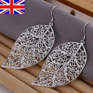 UK-Stock-Free-P-amp-P-Silver-Plated-Stamped-Fashion-Drop-Earrings-Jewellery-3-Design
