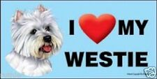 I (Heart) MY WESTIE Magnet LOVE  Made in USA