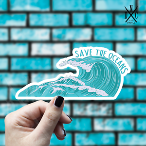 Save The Oceans Sticker Vinyl Decal Car Laptop Macbook Window Stickers