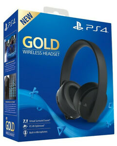 Sony-Playstation-4-PS4-Cuffie-NEW-Gold-Wireless-Gaming-Headset