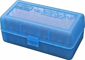 Details about MTM 50 Round Flip-Top Rifle Ammo Box WSM, 45-70 (Clear Blue)  Fast Shipment Hot S
