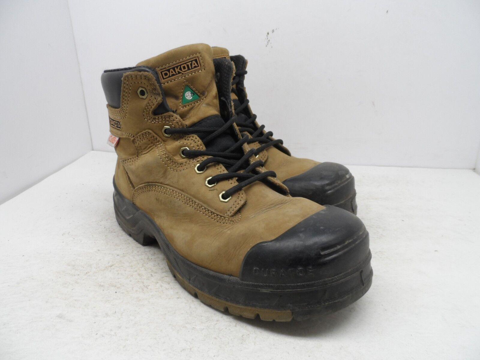 Dakota Men's 6'' Quad Comfort Steel Toe Composite Plate Work Boot Brown Size 10M