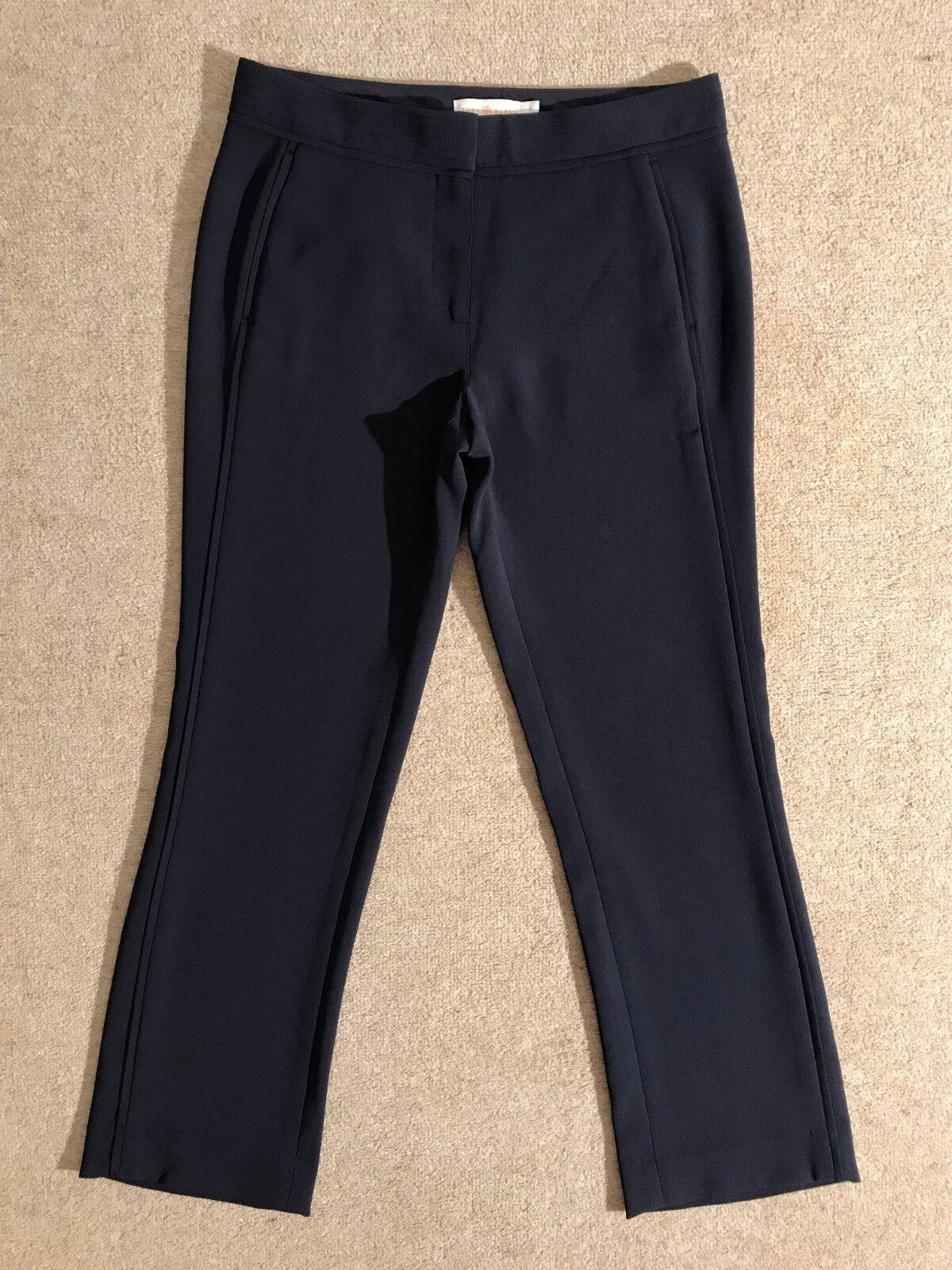 TORY Burch Blu Navy gamba dritta alla caviglia caviglia caviglia taglio pantalone US 0 Immacolata 81f2ff