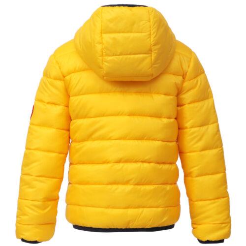 Boys/' Lightweight Reversible Water Resistant Hooded Puffer Jacket Coat Outwear