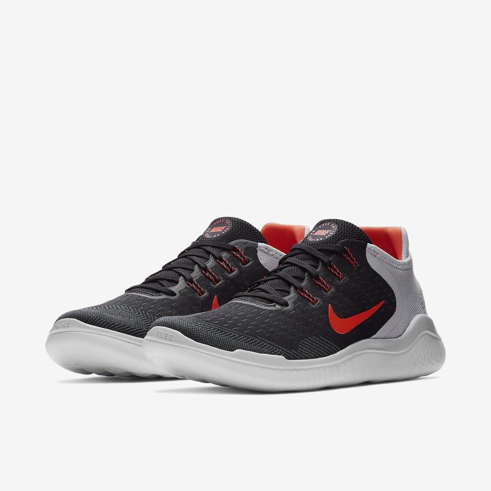 Nike Free RN 2018 Black/Vast Grey/White/Total Crimson Mens Running All NEW