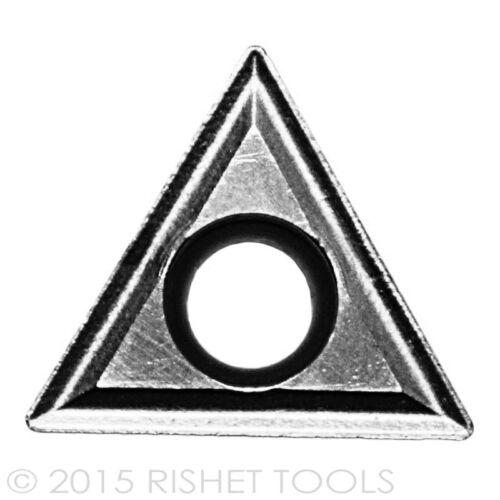 10 PCS RISHET TOOLS TCMT 32.51 C2 Uncoated Carbide Inserts