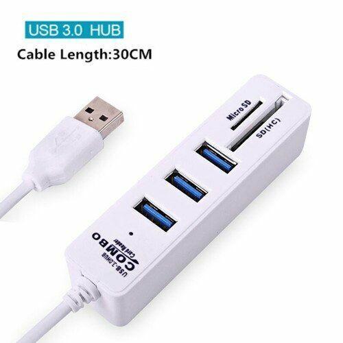 USB Hub 3//6 Port Expander USB 3.0 Hub High Speed USB Splitter TF SD Card Reader
