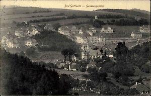 Bad-Gottleuba-Sachsen-alte-Postkarte-1915-gelaufen-Blick-auf-das-Genesungsheim
