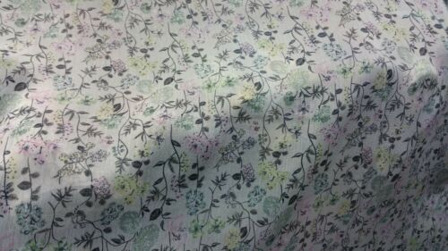 """Top quality soft crinkle geogette dusty cream/&peach colour Floral Print 58/""""width"""