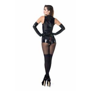 Combishort-sexy-libertin-vinyle-noir-reference-Tweeny-de-Patrice-Catanzaro