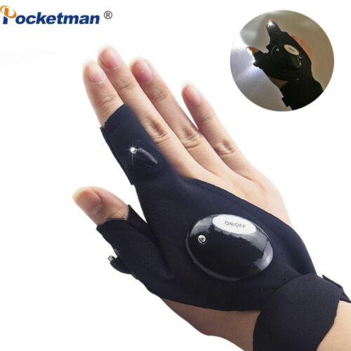Pocketman Portable LED Flashlight Cycling Gloves 2 LED Flashlight Torch Magic