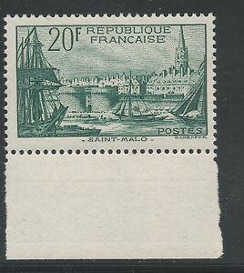 n-394-Port-de-Saint-Malo-20f-Vert-fonce-1938-Neuf-BDF-Sud-Signe-Calves
