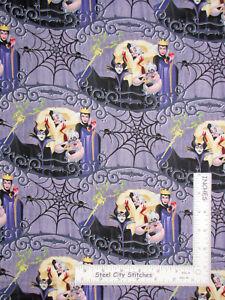 Disney-Villian-Friends-Webs-Purple-Cotton-Fabric-Springs-CP66383-By-The-Yard
