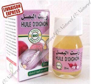 Huile-d-039-Oignon-BIO-100-Pure-amp-Naturelle-30ml-Onion-Oil-Aceite-de-Cebolla