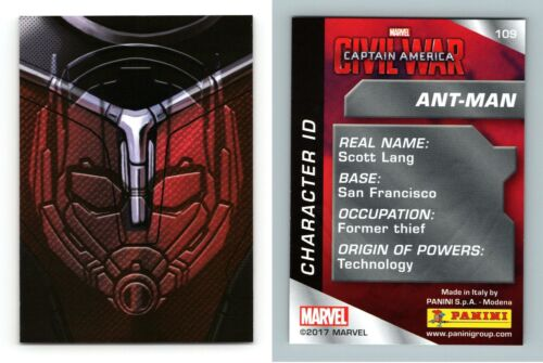 Marvel 2017 Panini Trading Card Ant-Man Captain America Civil War #109