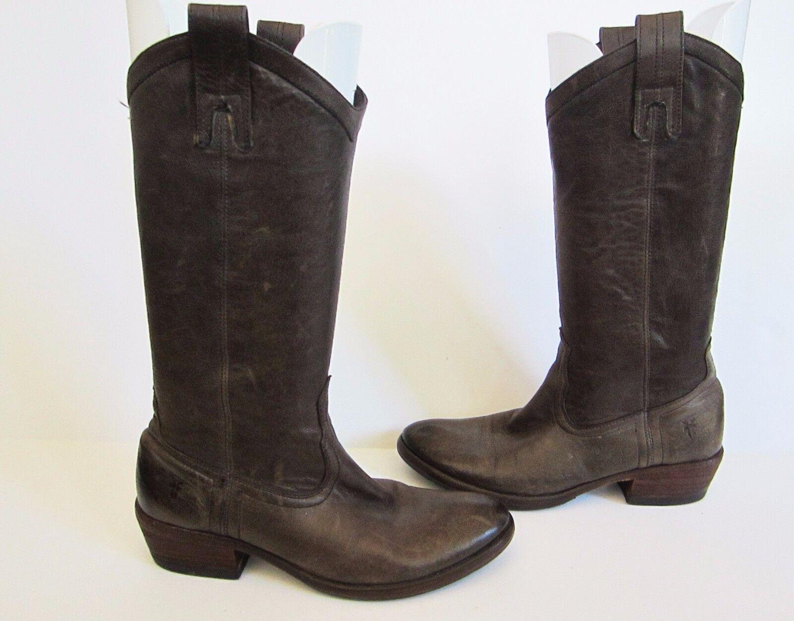 Frye femmes Carson Pull On Leather Western bottes Smoke marron 77686 6