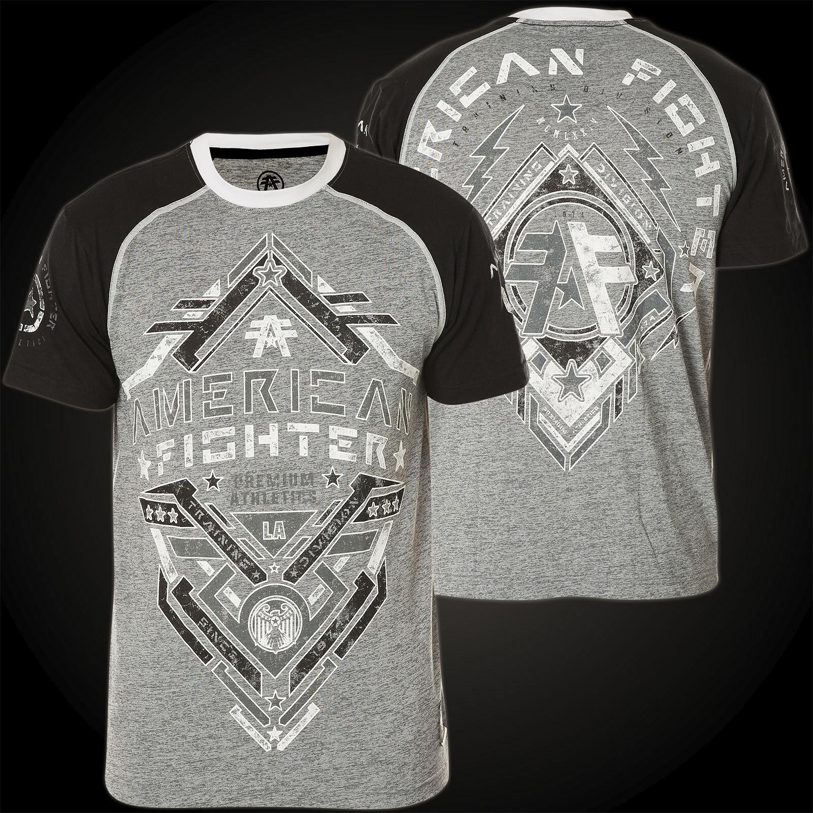 AMERICAN FIGHTER Affliction T-Shirt Bates Grau/Schwarz T-Shirts