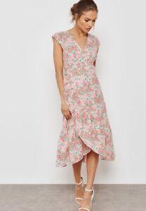 pretty nice uk store online retailer MANGO Frill Detail Printed Dress RRP £39.99 (B13) | eBay