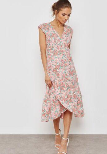 MANGO Frill Detail Printed Dress RRP £39.99 B13