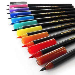 Edding-1340-Fibre-Tip-Brush-Pens-Brushpens-Assorted-Wallet-Of-10