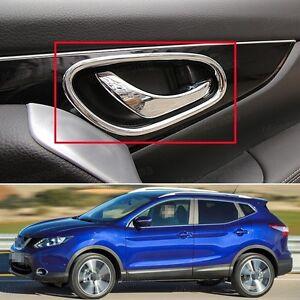 New Chrome Interior Inside Door Handle Cover Trim for Nissan Qashqai ...