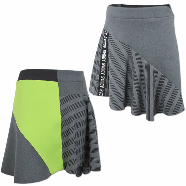 adidas Damen Rock Germany Skirt Deutschland Freizeitrock Asymmetrisch grau Gr.38