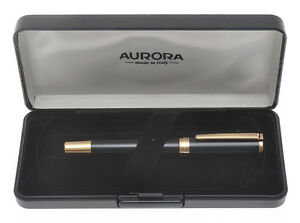 Aurora-TU-T11-CPN-black-and-rose-gold-fountain-pen-mint-in-box