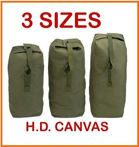 2e0f07b5d242 MILITARY STYLE H.D. CANVAS ARMY DUFFLE BAG - 3 SIZES - BRAND NEW ...