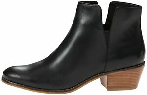 Cole Haan Womens abbot bootie Leather Almond Toe Ankle Fashion, Black, Size 7.0