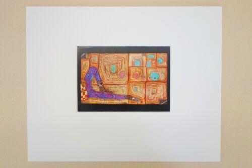 Friedensreich Hundertwasser Kunstdruck incl Passepartout 24 x 30 ArtNr2