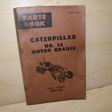Cat Caterpillar 14 Motor Grader Parts Manual Book Catalog Spare List 99g Series