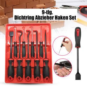 9-tlg-Dichtring-Abzieher-Auszieher-Haken-Set-Werkzeug-Schaber-Nadel