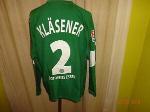 Rot-Weiss-Essen-Nike-Langarm-Matchworn-Trikot-2006-07-Nr-2-Klaesener-Gr-L