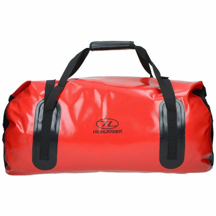 Highlander Borsa Impermeabile 35L Travel Camping Rosso