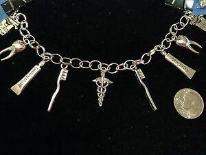 Dental-Dentist-Tibetan-Silver-Charms-w-8-034-Bracelet