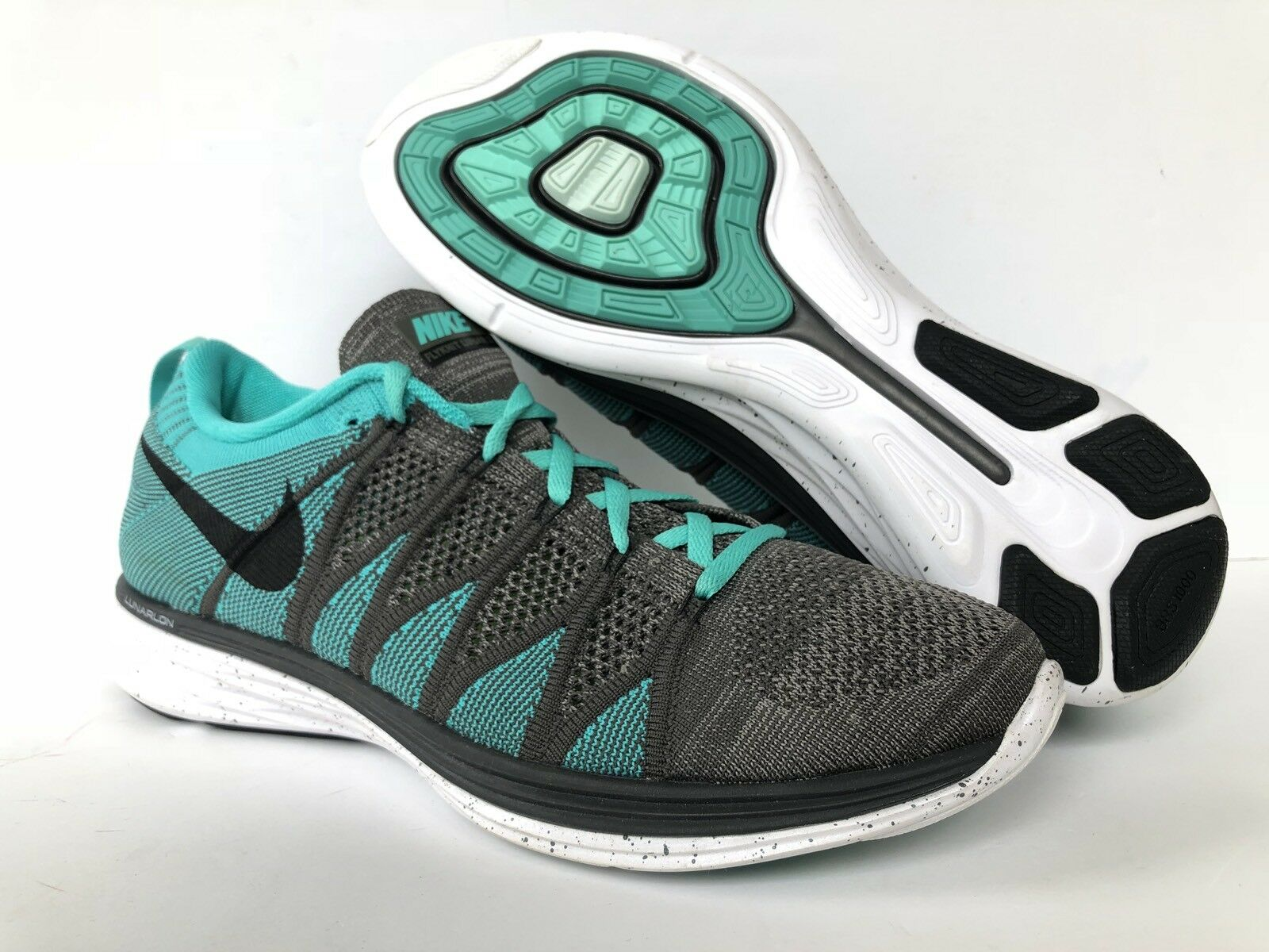Nike campione flyknit lunar 2 noi uomini sz 10 [620465-003] till / grey