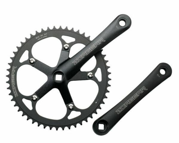 New Zoagear Single Speed Chainring 144 BCD 52 Teeth Fixed Gear Bike Black