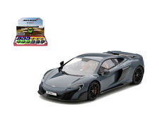 KINSMART 1:36 DISPLAY MCLAREN 675LT DIECAST CAR GREY COLOR KT5392D