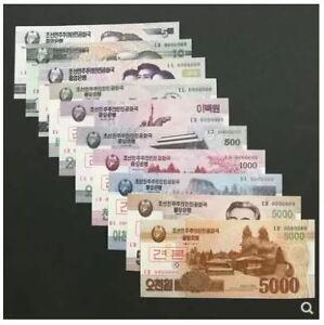 Korea-Banknotes-Set-10pcs-UNC-5-5000-2-5000-10-0