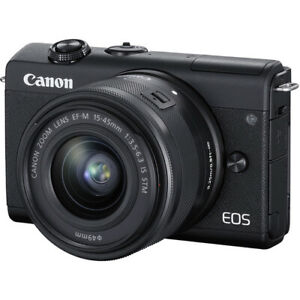 Canon EOS M200 EF-M 15-45mm f3.5-6.3 IS STM Black Multi no extra cost speedypost