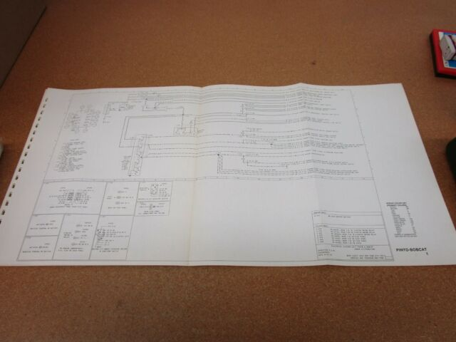 1977 Ford Pinto Mercury Bobcat Wiring Diagram Schematic Sheet Service Manual