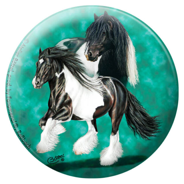 Equitaner Highlights Anstecknadel Pin Button Christina Bötzel Pferde • 03878 •