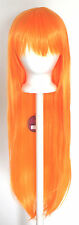 32'' Long Straight Long Bangs Orange Sherbert Cosplay Wig NEW